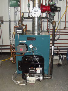 An oil heating system installed in a Hampton home