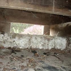 A crawl space vent in Fort Monroe that's bringing moisture into the home