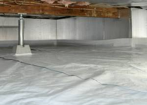 A sealed, insulated, and structurally repaired Portsmouth crawl space